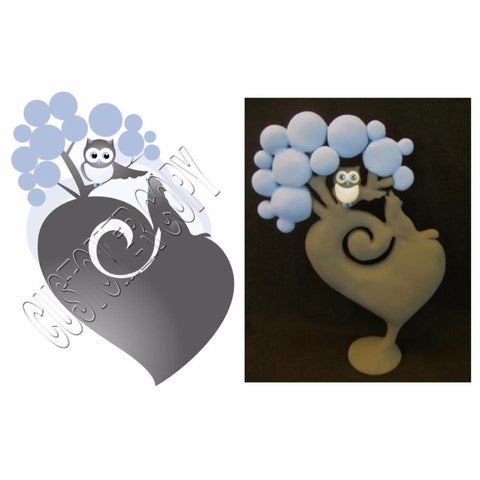 wedding cake topper from design OOAK polymer clay sculpture - Fiendish Thingies