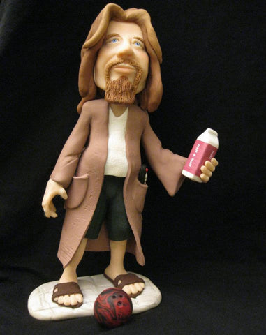 The Dude from Big Lebowski OOAK polymer clay sculpture - Fiendish Thingies - 1