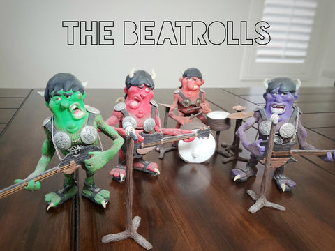 The Beatrolls OOAK polymer clay sculptures