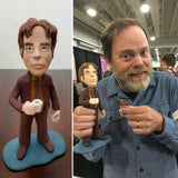 Dwight Schrute from the Office Rainn Wilson OOAK polymer clay sculpture