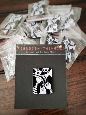 Fiendish Thingies Scary Monsters and Super Creeps enamel pin