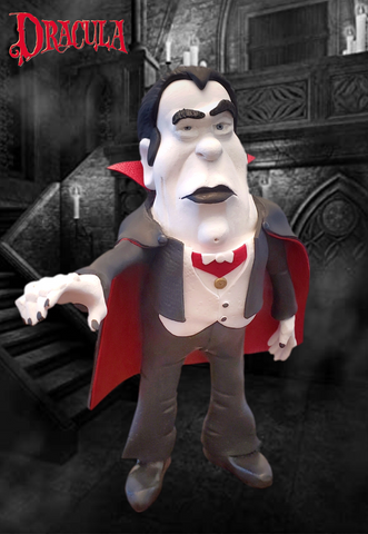Dracula OOAK polymer clay sculpture