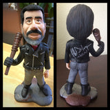 Negan from the Walking Dead custom OOAK polymer clay sculpture Jeffrey Dean Morgan SIGNED SIGNED