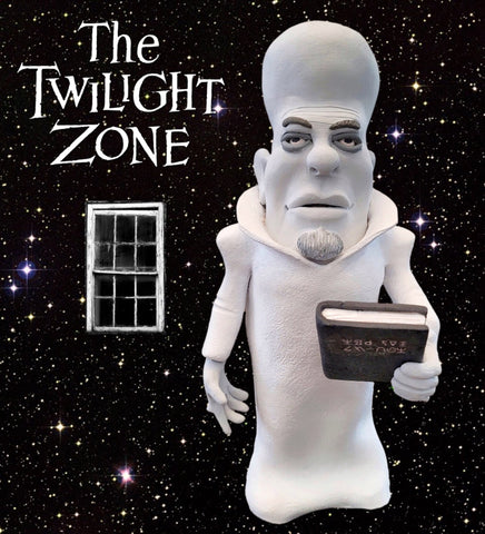 The Twilight Zone Kanamit OOAK polymer clay sculpture alien