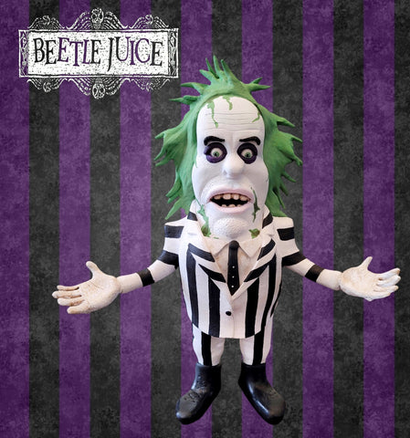 Beetlejuice OOAK polymer clay sculpture