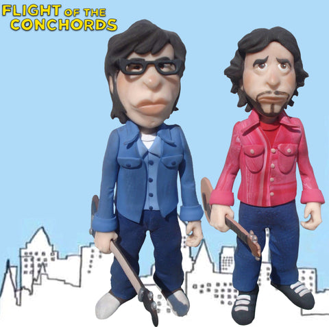 Flight Of the Conchords OOAK polymer clay sculpture