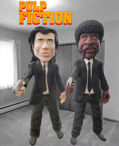 Pulp Fiction Jules and Vince custom OOAK polymer clay sculpture