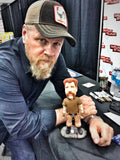 Abraham from the Walking Dead OOAK polymer clay sculpture Michael Cudlitz SIGNED