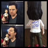 Eugene from the Walking Dead custom OOAK polymer clay sculpture Josh McDermitt SIGNED - Fiendish Thingies - 2