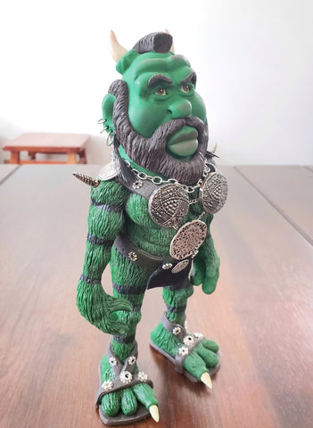 Mr. T Monster OOAK polymer clay sculpture