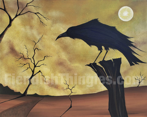 "As the Crow Flies 8"" x 10"" framed print"
