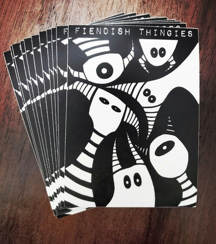 Fiendish Thingies Scary Monsters and Super Creeps Vinyl sticker