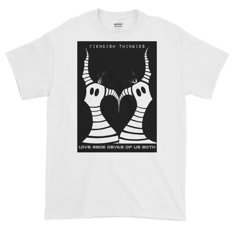 Love Made Devils Of Us Both White Short-Sleeve T-Shirt Mens Style