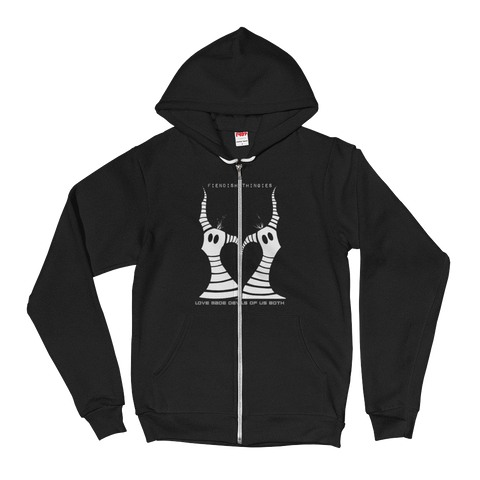 Love Made Devils Of Us Both zipper Hoodie sweatshirt
