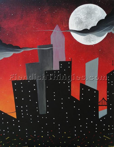 "Cityscape 8"" x 10""  framed print - Fiendish Thingies"