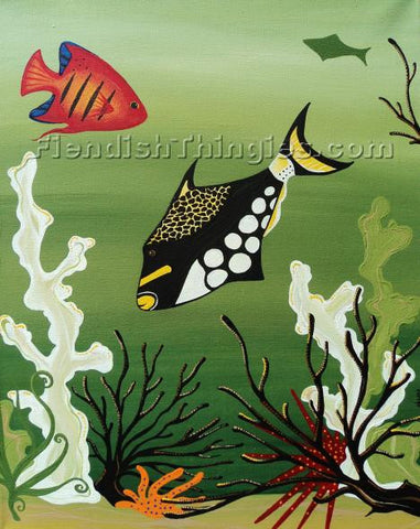 "That's What Fish Do.. 11"" x 14"" framed print - Fiendish Thingies"