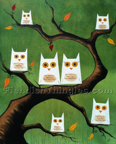 "Family Tree 8"" x 10""  framed print - Fiendish Thingies"