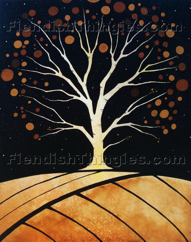 "Tree Of Knowledge 11"" x 14"" framed print - Fiendish Thingies"