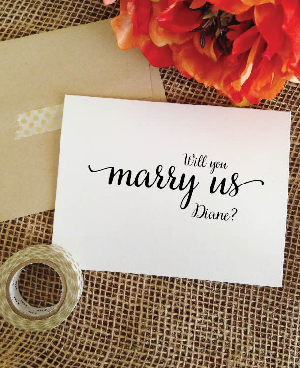 Will you marry us card Asking Officiant - Personalized