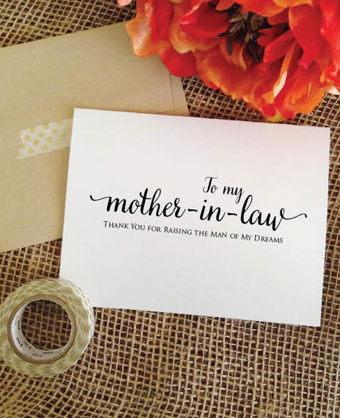Gift For Sister In Law Wedding: Thank You Mother In Law Card