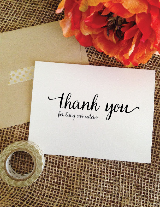 thank you for being our CATERER card (Lovely)