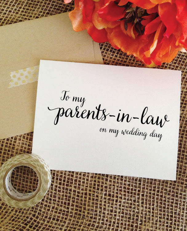 To my parents-in-law on my wedding day Card (Lovely)