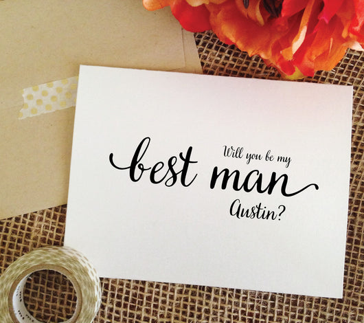 Personalized will you be my best man? (LOVELY)