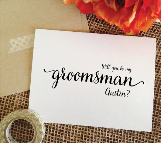Personalized will you be my groomsman? Cards for Groomsmen (LOVELY)