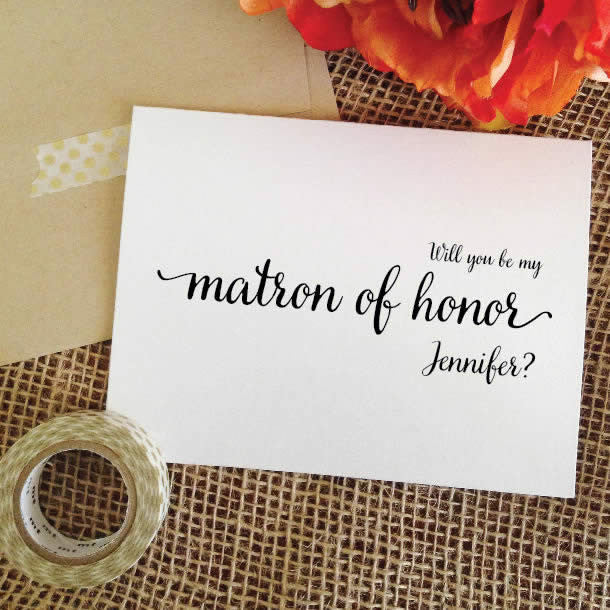 personalized will you be my matron of honor