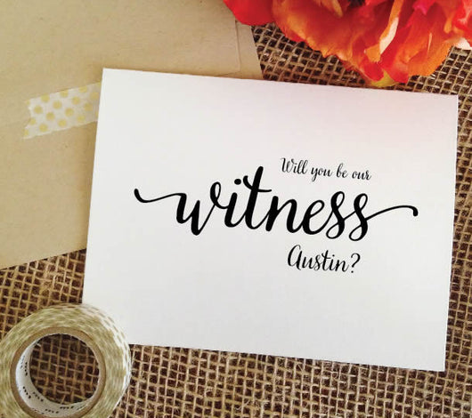 will you be our witness card