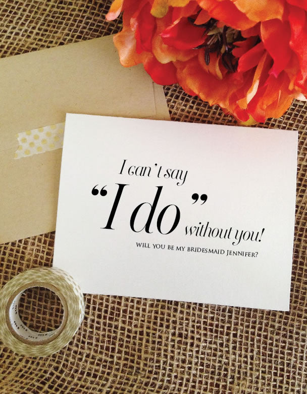 personalized I can't say I do card