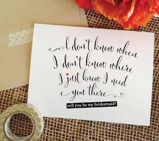 asking bridesmaid card - will you be my bridesmaid