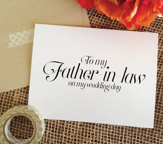 wedding card for father in law