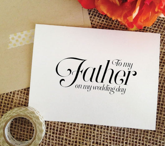 wedding card for father