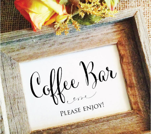 Coffee bar sign for wedding