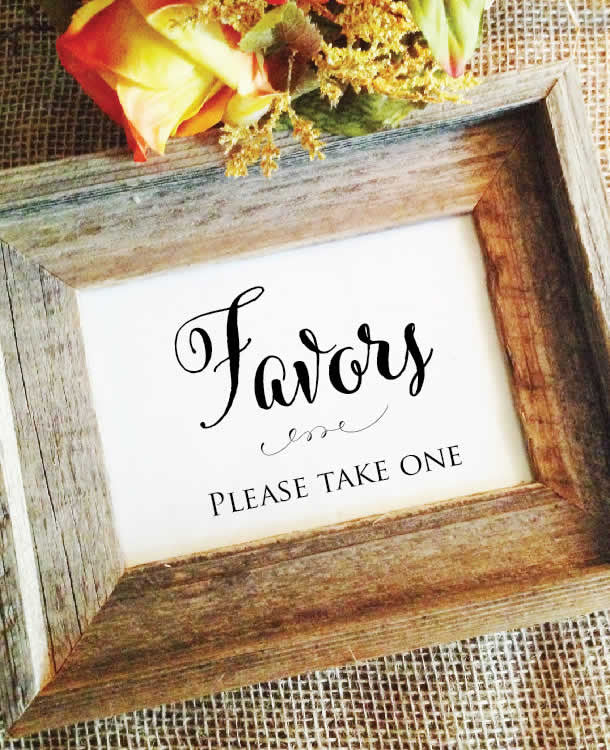 Wedding Favors Sign Favors Please Take One Wedding Cheer