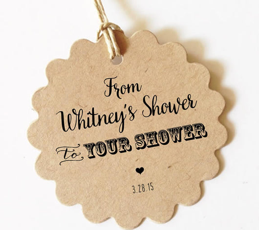 From my shower to yours gift tags wedding or baby shower favors tag