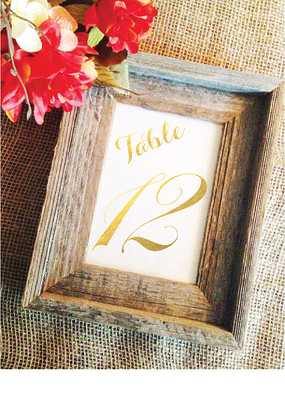 Black Or Gold Wedding Table Numbers Wedding Cheer