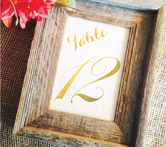 Black or Gold Table Numbers