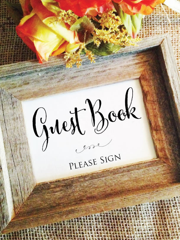 Wedding Guest Book Sign in Book