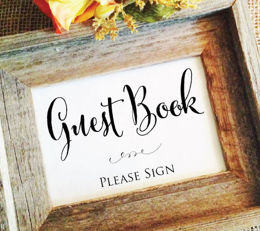 guest book wedding signs please sign