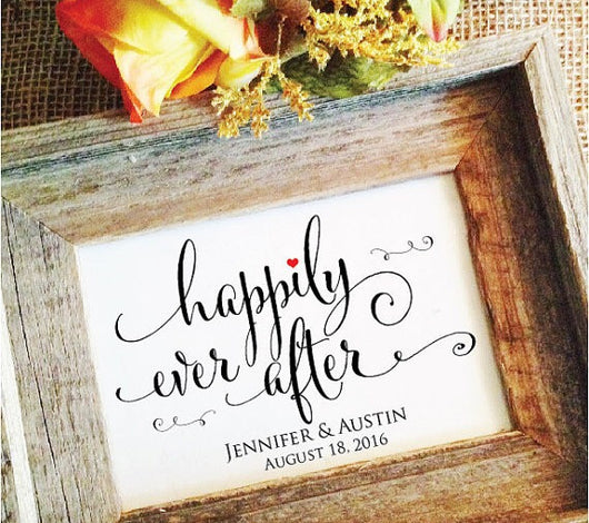 Happily Ever After Sign Personalized
