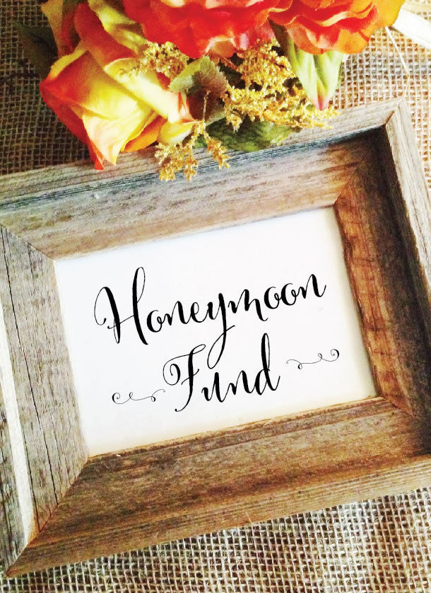 rustic wedding honeymoon fund