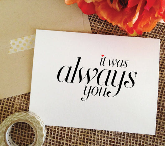 it was always you card wedding card (Sophisticated)