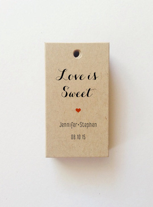 Mini Love is Sweet Tags Favor tags (Rectangle) SET of 25