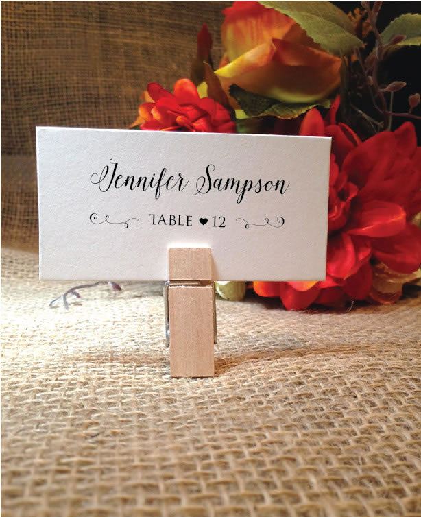 Wedding Escort Cards Place Cards (Bella)