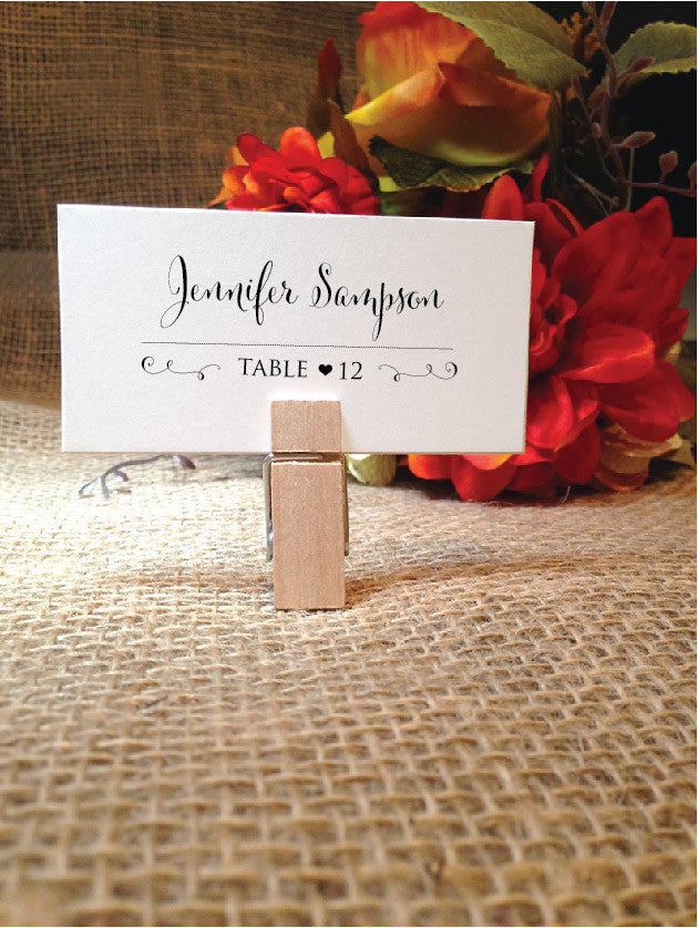 Wedding Place Cards Table Card Placecards (Stylish)