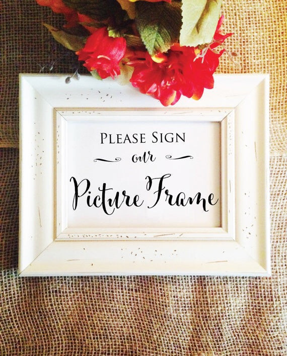 Please sign our picture frame