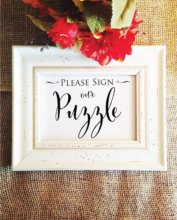Please Sign our PUZZLE wedding sign