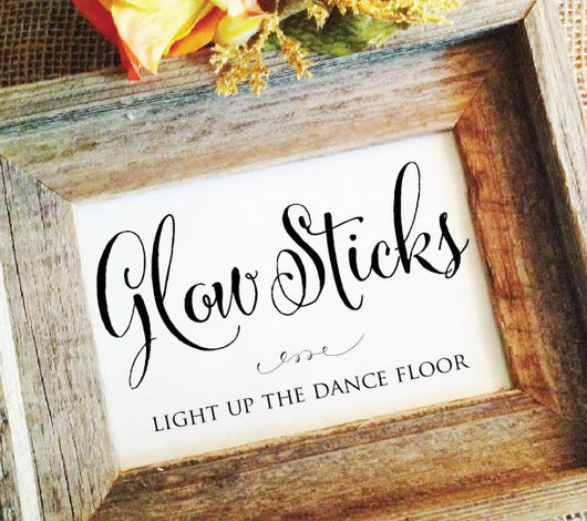 wedding glow sticks sign light up the dance floor